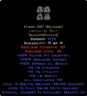 Stone Loricated Mail - Eth Bugged - 270-289% ED