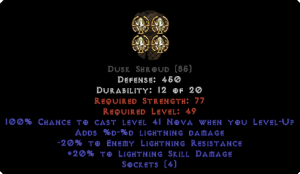 =+20/-20 Lightning Facet Level-Up Dusk Shroud