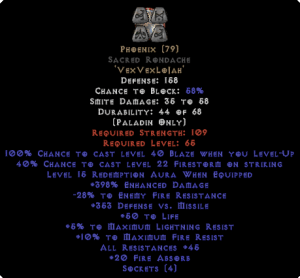 Phoenix Sacred Rondache 45 All Res - 380-399% ED