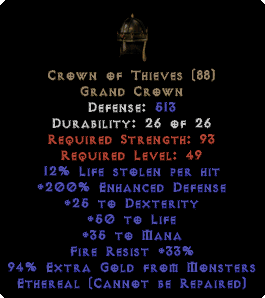 Crown of Thieves - Ethereal - 200% ED