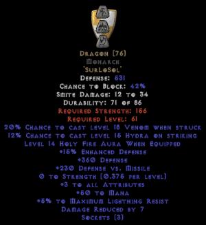 Dragon Monarch - 3-4 All Stats - Base 15% ED