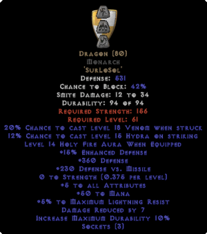 Dragon Monarch - 5 All Stats - Perfect - Base 15% ED