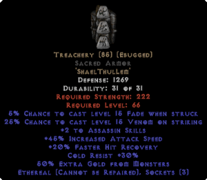 Treachery Sacred Armor - Eth Bugged