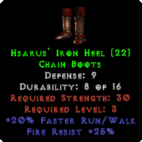 Hsarus' Iron Heel - 9 Def - Perfect