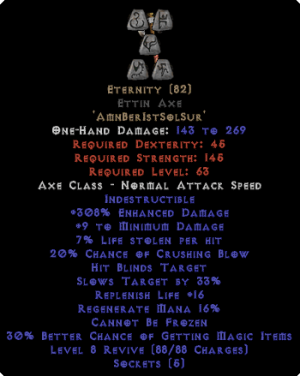 Eternity - Ettin Axe - Ethereal - 290-309% ED