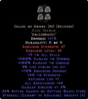 Chains of Honor Dusk Shroud - Eth Bugged