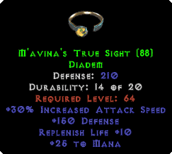M'avina's True Sight - 210 Defense - Perfect