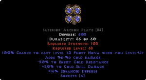 =+20/-20 Cold Facet Level-Up Archon Plate
