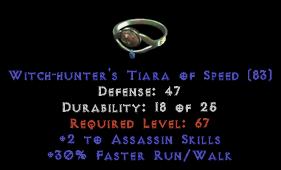 -+2 Assassin Skills/30% FRW Diadem/Tiara/Circlet - 2 Socket