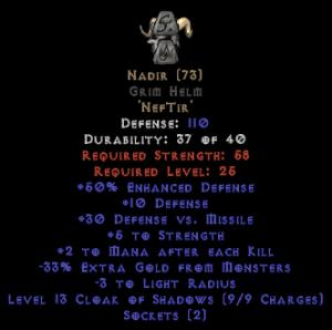 Nadir Grim Helm