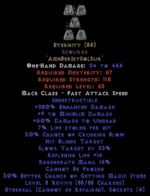 Eternity - Scourge - Ethereal - 290-309% ED