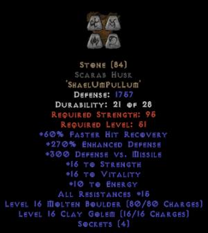 Stone Scarab Husk - 250-269% ED