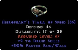 -+2 Druid Skills/30% FRW Diadem/Tiara/Circlet - 2 Socket