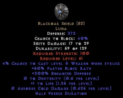 Blackoak Shield - 190-199% ED