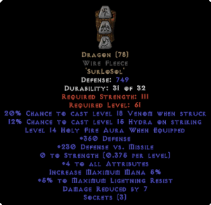 Dragon Wire Fleece - 3-4 All Stats