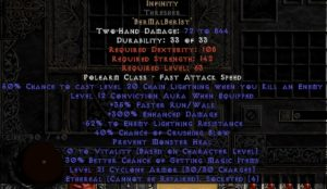 Infinity Thresher - Ethereal - 255-294% ED & -55% ELR