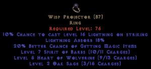 Wisp Projector 10-19% LA & 20% MF
