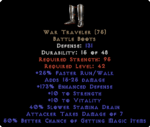 War Traveler 50% MF