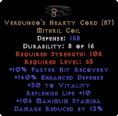Verdungo's Hearty Cord - 140% ED