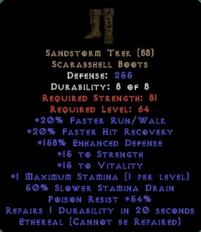 Sandstorm Trek - Ethereal - 15 Str & 15 Vit