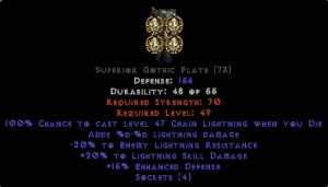 =+20/-20 Lightning Facet Die Gothic Plate