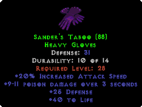 Sander's Taboo - 31 Def - Perfect