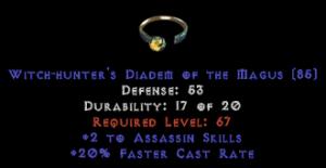 -+2 Assassin Skills/20% FCR Diadem/Tiara/Circlet - 2 Socket
