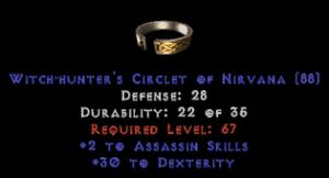 -+2 Assassin Skills/30 Dex Diadem/Tiara/Circlet - 2 Socket
