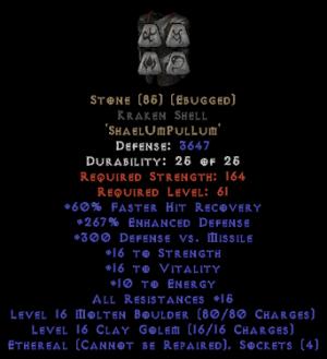 Stone Kraken Shell - Eth Bugged - 250-269% ED
