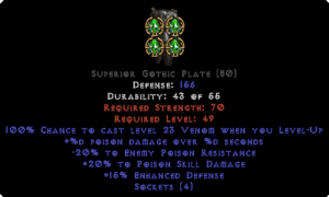 =+20/-20 Poison Facet Level-Up Gothic Plate