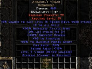 Andariel's Visage - Ethereal - +30 Strength