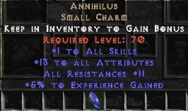 Annihilus 10-16 Stats/10-16 Resists/10 Experience