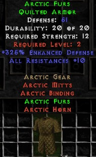Arctic Furs - 51 Def, +325% ED Perfect