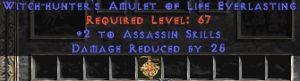 Assassin Amulet - 2 All Assn Skills & 25 PDR
