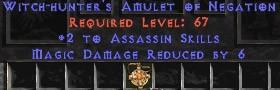 Assassin Amulet - 2 All Assn Skills & 6 MDR