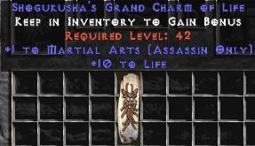 Assassin Martial Arts w/ 10-20 Life GC