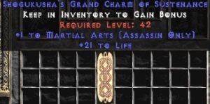 Assassin Martial Arts w/ 21-29 Life GC