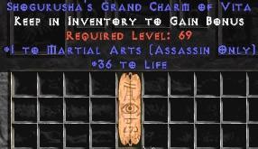 Assassin Martial Arts w/ 36-39 Life GC