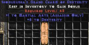 Assassin Martial Arts w/ 3-5 Dex GC