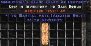 Assassin Martial Arts w/ 6 Dex GC