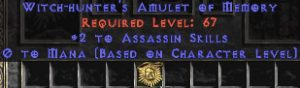 Assassin Amulet - 2 All Assn Skills & 0.75 MPL