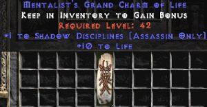 Assassin Shadow Disciplines w/ 10-20 Life GC