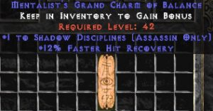 Assassin Shadow Disciplines w/ 12% FHR GC