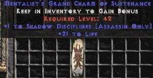 Assassin Shadow Disciplines w/ 21-29 Life GC
