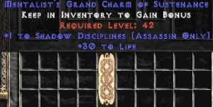 Assassin Shadow Disciplines w/ 30 Life GC