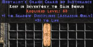 Assassin Shadow Disciplines w/ 31-34 Life GC