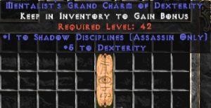 Assassin Shadow Disciplines w/ 3-5 Dex GC