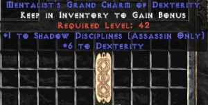 Assassin Shadow Disciplines w/ 6 Dex GC