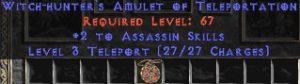 Assassin Amulet - 2 All Assn Skills & Teleport
