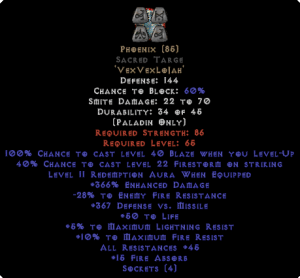 Phoenix Sacred Targe 45 All Res - 350-379% ED